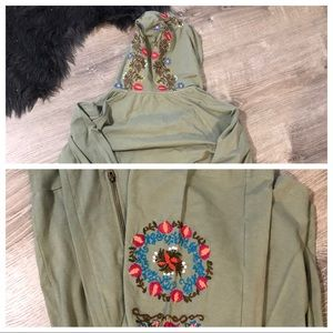 Caite embroidered jogging suit
